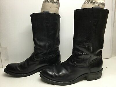 $ CDN26.68 • Buy Vtg Mens Unbranded Work Black Boots Size 10.5 D