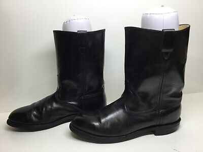 $ CDN26.68 • Buy Vtg Mens Unbranded Cowboy Work Black Boots Size 9.5 D