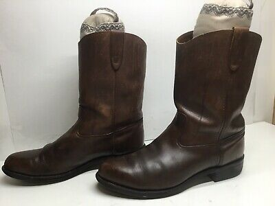 $ CDN26.68 • Buy Vtg Mens Unbranded Work Brown Boots Size 9.5?