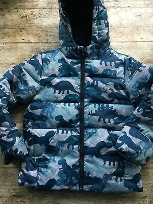 £16.97 • Buy BOYS PUFFER COAT Marks And Spencer Dinosaurs Light Warm Age 7 Years Blue