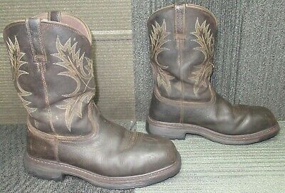 $ CDN24.25 • Buy Mens ARIAT Workhog Wide Square Toe H2O CT Leather Work Boots Sz 10.5 EE