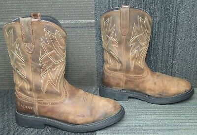 $ CDN24.25 • Buy Mens ARIAT Sierra Everett H2O Soft Toe Tan Leather Work Boots Sz 10.5 EE