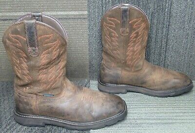 $ CDN24.25 • Buy Mens ARIAT Groundbreaker Wide Square Toe H2O Soft Toe Work Boots Sz 9 D