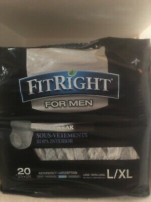 $12.99 • Buy FitRight Disposable Underwear For Men L/XL