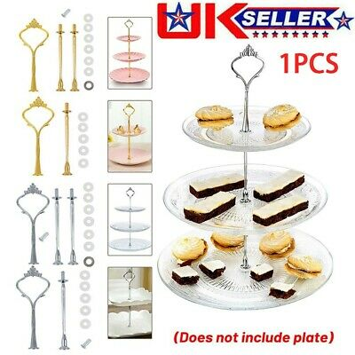 £4.99 • Buy 2/3 Tier Cake Stand Cupcake Fittings Afternoon Tea Party Wedding Plate Tableware