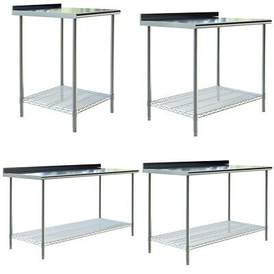 £77.95 • Buy Stainless Steel Wire Shelf Table Work Bench Catering Table Kitchen Top 2ft-6ft