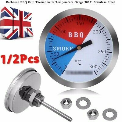 £3.75 • Buy 300℃ 2''Stainless Steel Grill Thermometer Gauge Oven BBQ  Temperature Measure UK