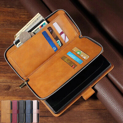 AU18.59 • Buy For Samsung S21+ Ultra S20 Note 10 S10 Magnetic Zipper Leather Wallet Case Cover