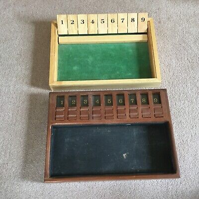 £19.95 • Buy VINTAGE SHUT-THE-BOX GAMES X 2 - ONE IS A C.M.J. PRODUCT