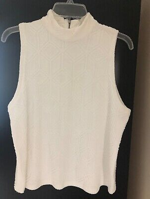 $ CDN25.46 • Buy ANTHROPOLOGIE 9-HI5 STCL Post Stamp Textured Sleeveless Top - Size Large