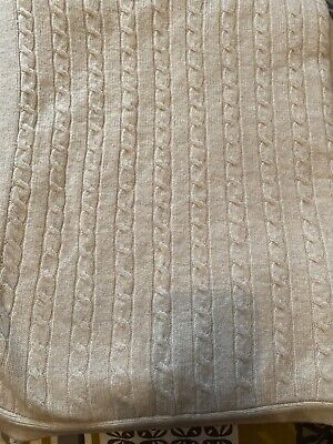 £76 • Buy Marks & Spencer 100% Lambswool Cable Knit Throw Blanket Nwt 150x 200 Natural