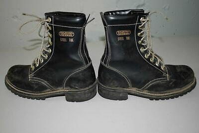 $ CDN23.05 • Buy Ramrods Vtg Steel Toe Work Boots Black 7.5