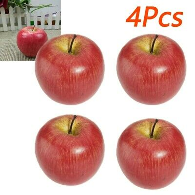 £6.69 • Buy 4pcs Pack Artificial Plastic Fruit Fake Display For Kitchen Home Foods Decor UK