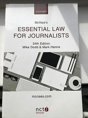£1.50 • Buy Mcnae's Essential Law For Journalists 24th Edition