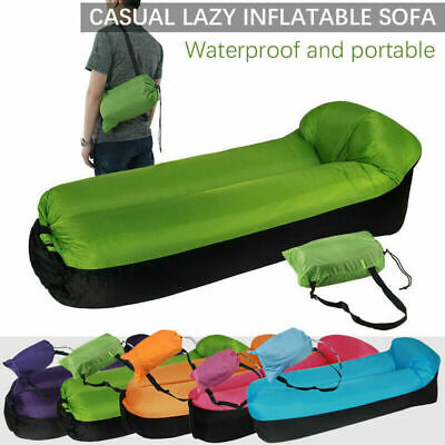 £11.97 • Buy UK Inflatable Sun Lounger Outdoor Furniture Camping Lazy Bag Air Sofa Beach Bed