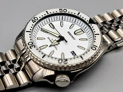 $ CDN680.13 • Buy Seiko Prospex White Monster Fangs Auto, Diver, Date, Strapcode, Custom Mod 7002