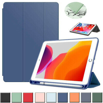 AU22.79 • Buy For IPad 8th 7th 6th 5th Gen Air 4 3 2 Pro Smart Case Cover With Pencil Holder