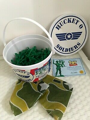 £9.99 • Buy Toy Soldiers Plastic Figures TOY STORY Disney & Certificate With Bucket