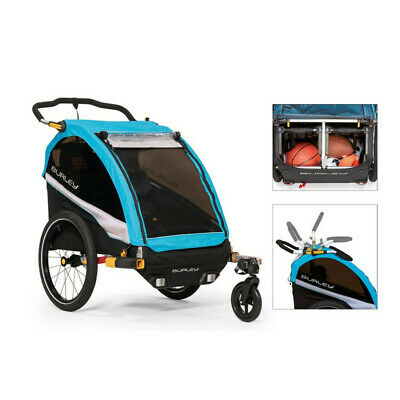 £958.60 • Buy Tow Bike For Children Dlite X 2 Places 54l Blue 3091950300 Burley Carry