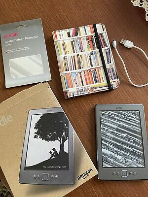 £11.90 • Buy Amazon D01100 Kindle 4th Generation 2GB Wi-Fi 6 Inch EBook Reader - Bundle
