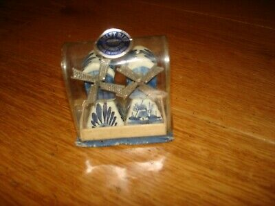 £7.99 • Buy Vintage Delft Windmill Salt & Pepper Pot Shakers Holland, Blue & White BRAND NEW