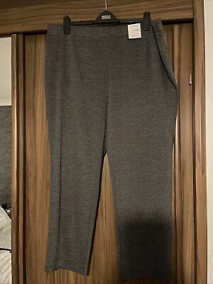 £10.99 • Buy Bnwt M&s Collection Dark Grey Pull On High Rise Straight Leg Trousers 22 S