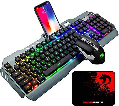 AU68.30 • Buy  Wireless Keyboard And Mouse Combo Set RGB LED Backlit For PC Laptop PS4 MAC USB