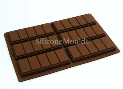 £8.99 • Buy 6 Cell 5 Chunk Chocolate Snap Bar Candy Silicone Mould N044 Wax Melt Mold