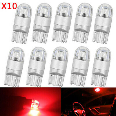 $ CDN2.75 • Buy 10X Red T10 3030 W5W 194 168 2-SMD LED Reading License Plate Light Side DSL `ZY
