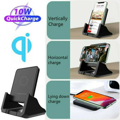 $ CDN24.19 • Buy Qi Wireless Fast Charger Charging Pad Stand For Samsung Galaxy S20 IPhone 12 11