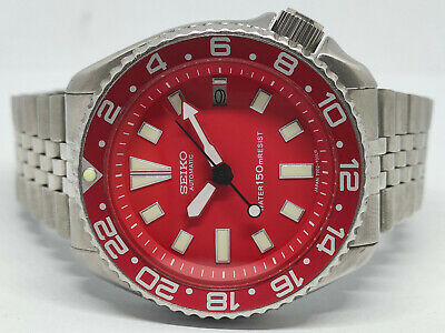 $ CDN0.01 • Buy Seiko Diver 7002-7000 Red Dial Mod Automatic Mens Watch 1n0928