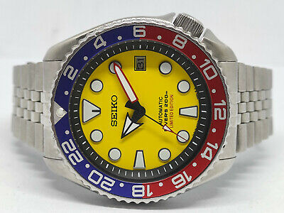 $ CDN0.01 • Buy Seiko Diver 7002-7000 Yellow Sumo Modded Automatic Mens Watch 271143