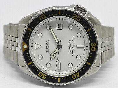$ CDN0.01 • Buy Seiko Diver 7002-7000 White Submariner Modded Automatic Mens Watch 380430