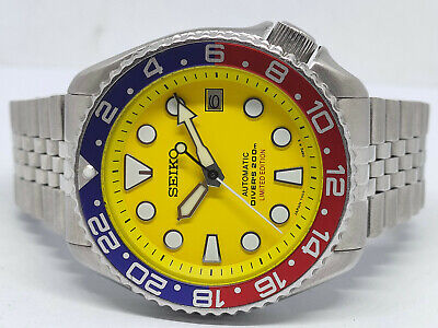 $ CDN0.01 • Buy Seiko Diver 7002-7000 Yellow Sumo Modded Automatic Mens Watch 210531