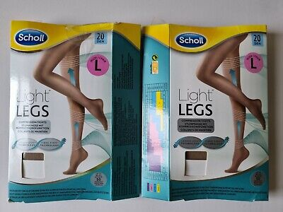 £7.75 • Buy Scholl Womens Light Legs Large Nude 20 Denier Compression Tights LARGE