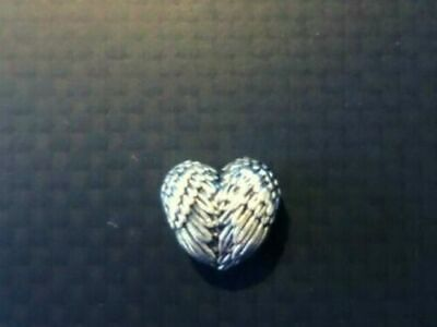 £5.19 • Buy Angel Wings Heart Silver Charm Bead With Pandora Pouch