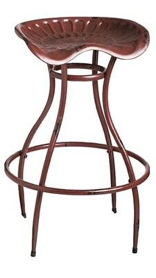 AU95.20 • Buy Cape Craftsmen Red Tractor Seat Bar Stool ~ New