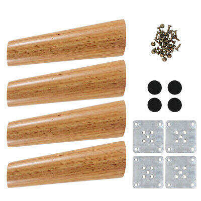 £10.16 • Buy 4x Wooden Furniture Legs Tapered Feet Legs For Bed Stool Sofa Chair Cabinet Foot