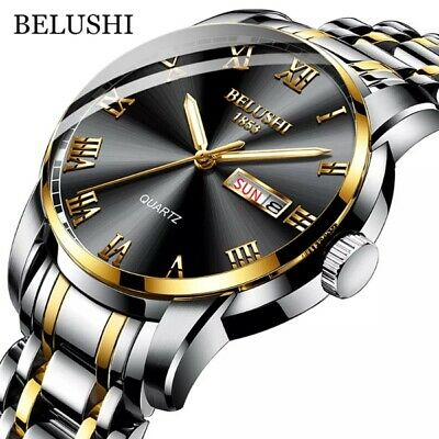 $ CDN69.56 • Buy Watch Steel Stainless Men's Quartz Luxury Classic Business Waterproof Luminous