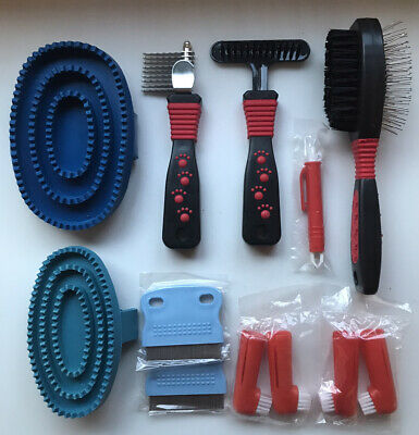 £4.99 • Buy Ten Piece Dog Grooming Set, Professional Tools. Brand New. CLEARANCE PRICE!!!!!!