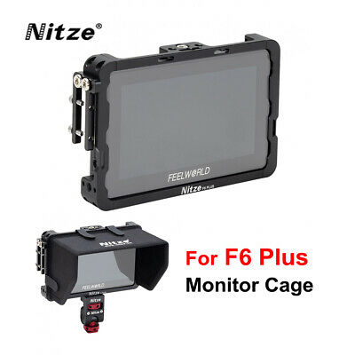AU79.99 • Buy Nitze Monitor Cage With HDMI Cable Clamp For Feelworld F6 Plus 5.5  Inch Monitor