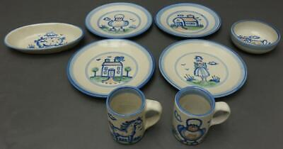 $89.99 • Buy M.A. HADLEY Pottery COUNTRY COLLECTION Handmade 8pc Set Mugs Plates Animals