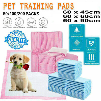 £10.95 • Buy 50/100/200 More Size Large Puppy Training Pads Toilet Pee Wee Mats Cat Pet Dog