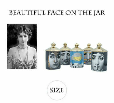 £13.66 • Buy Fornasetti Style Candle Holder Lina Face Vintage Ceramic Jar Art Home Decor New