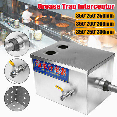 £31.59 • Buy Commercial Stainless Steel Grease Trap Interceptor Wastewater Waste Water Oil UK