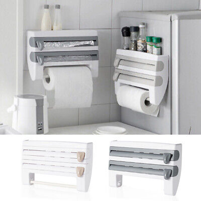 £8.95 • Buy Cling Film And Kitchen Foil Dispenser Paper Towel Roll Holder Wall Mounted Rack