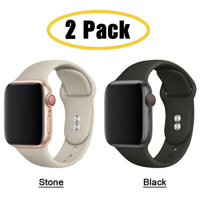 AU11.99 • Buy 2PCS Silicone Sport Band IWatch Strap For Apple Watch Series 6 5 4 3 2 1 SE