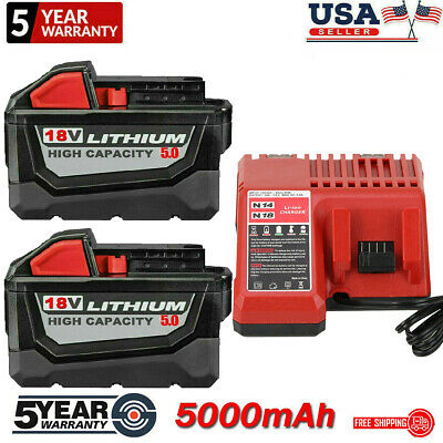 $27 • Buy For Milwaukee M18 XC 5.0/6.0 AH Extended Lithium-ion Battery 48-11-1860 Charger