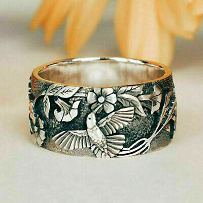 £2.73 • Buy Pretty Flower 925 Silver Rings For Women Jewelry Party Rings Size 5-10