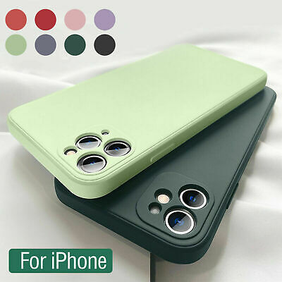 AU7.82 • Buy Square Liquid Silicone Case For IPhone 12 Pro Max 11 78 X XS XR Shockproof Cover